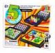 Коллекция настольных игр - 5 в 1 для взрослых /шашки, шахматы, лудо, змейка, кит. шашки/